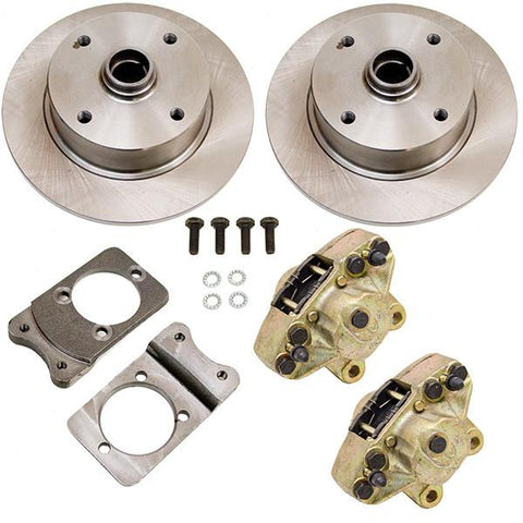 Disc Brake Kit, Front, Fits Stock Drum Spindles, 4-Lug (VW Pattern – 4×130) - AA Performance Products