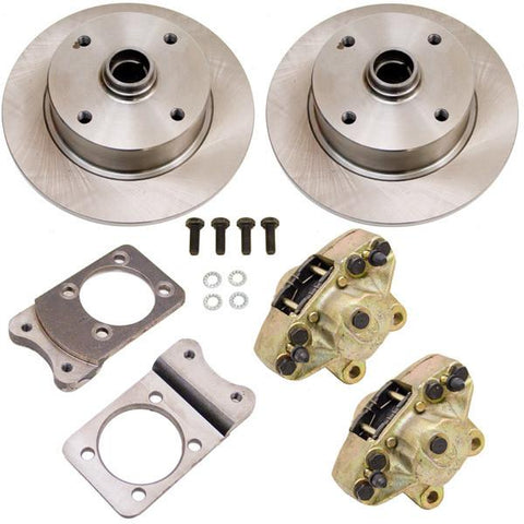 Disc Brake Kit, Front, Fits Stock Drum Spindles, 4-Lug (VW Pattern – 4×130)