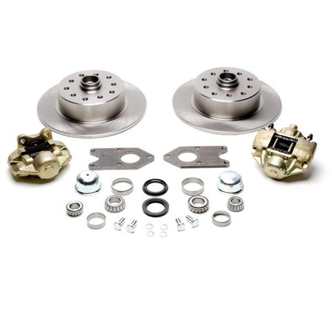 Front Disc Brake Kit, Fits Stock Drum Spindles, 5-Lug (Dual Pattern – Chevy/Ford – 5×4-3/4, 5×4-1/2) - AA Performance Products