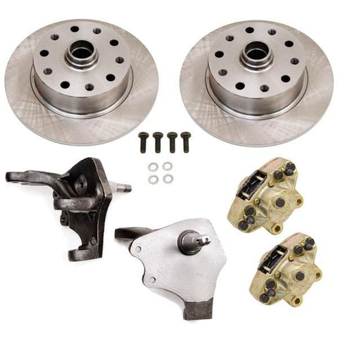 Disc Brake Kit, Front, Droped Spindles, 5-Lug (Porsche/Bus Pattern – 5×130/5×112)