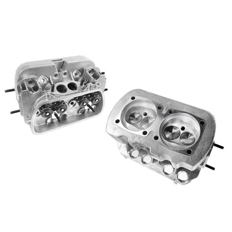 "VW 1600 Dual Port Cylinder Heads, Stainless Steel Valves 35.5X32  ""Pair"" - AA Performance Products"