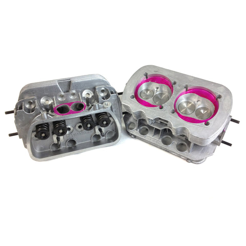 "VW 1600 Port & Polish Stage 2 Cylinder Heads, 42X37.5 ""Pair"" - AA Performance Products"
