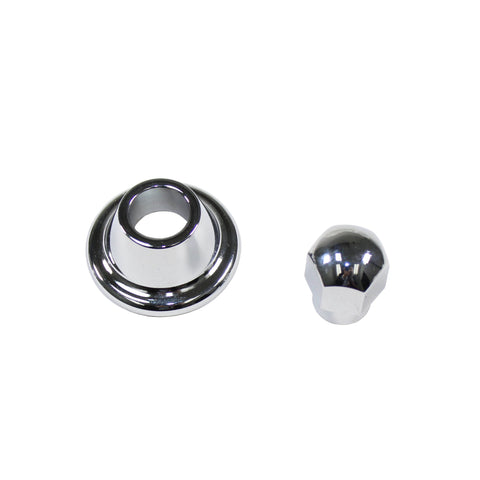 Chrome Generator/Alternator Pulley Nut and Hub