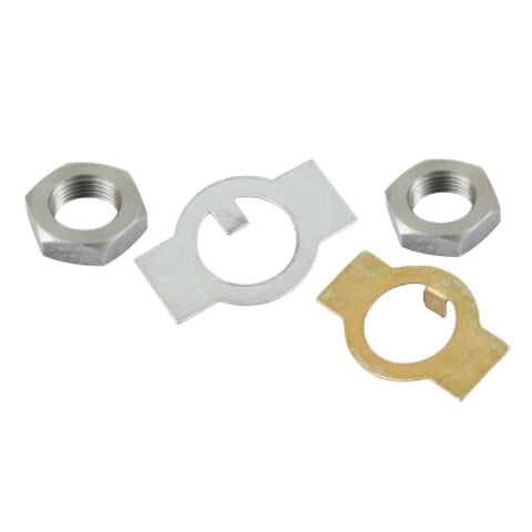 Spindle Nut Kit, Left & Right, 27mm Hex, M18 x 1.5 (LH & RH) Thread, Lock Plates