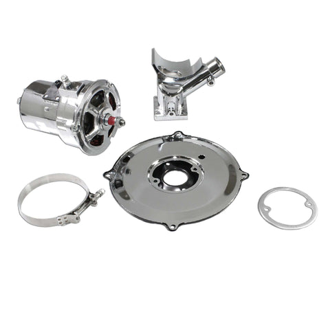 Standard Chrome VW (60 or 75) AMP Alternator Conversion Kit for Type 1 and 2 - AA Performance Products