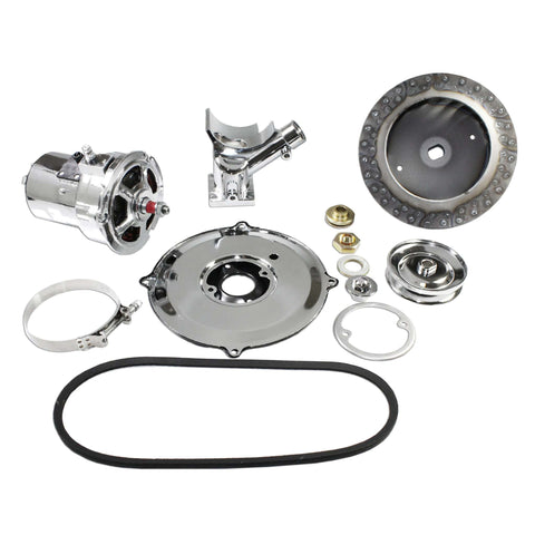 Complete+ Chrome VW (60 Or 75) AMP Alternator Conversion Kit for Type 1 and 2 - AA Performance Products