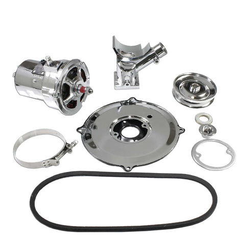 Complete Chrome VW (60 Or 75) AMP Alternator Conversion Kit for Type 1 and 2