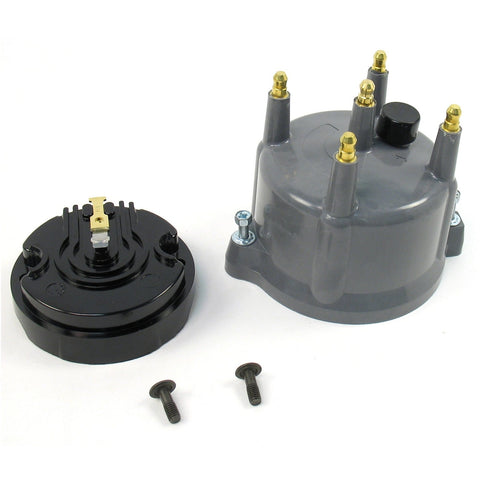 Replacement Distributor Cap AND Rotor for Billet Dist, Grey