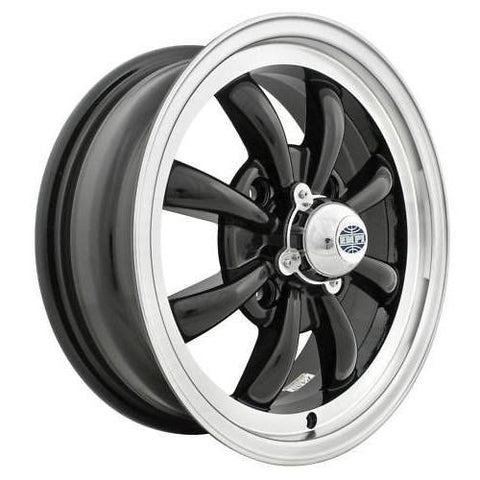 "Empi 9682 GT-8 Spoke Gloss Black w/ Polished Lip 5.5x15"" - AA Performance Products"