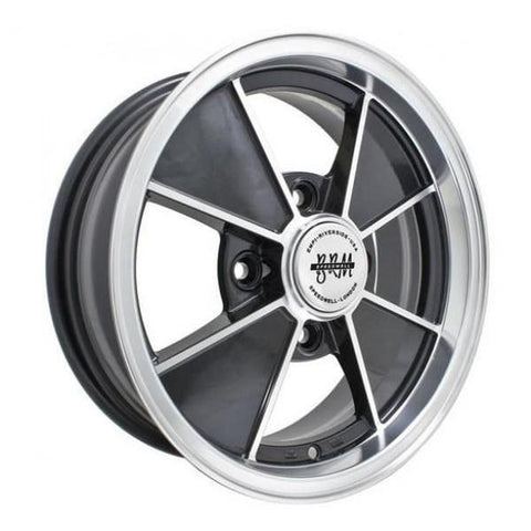"Empi BRM 9735 Gloss Black w/ Polished Lip & Spoke Edges 5.5x15"" - AA Performance Products"