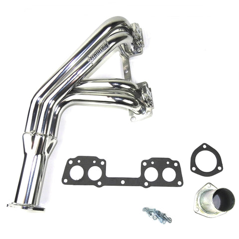 "Patriot Exhaust H4860-1 1-1/2"" Classic Import Header Toyota HiLux Pickup 1975-84 2/4WD w/ 20R/22R Non-EFI Engines Metallic Ceramic Finish - AA Performance Products"