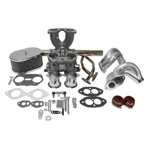 "Dual Port Single 40mm Carburetor Kit ""IDF Weber Copy"" VW Type 1 Bug/Ghia"