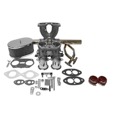 "Dual Port Single 44mm Carburetor Kit ""IDF Weber Copy"" VW Type 1 Bug"