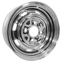 "4 Lug Rim Chrome with Slots 4/130 5.5"" Wide"
