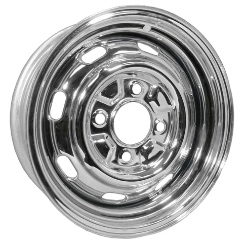 "4 Lug Rim Chrome with Slots 4/130 4.5"" Wide - AA Performance Products"