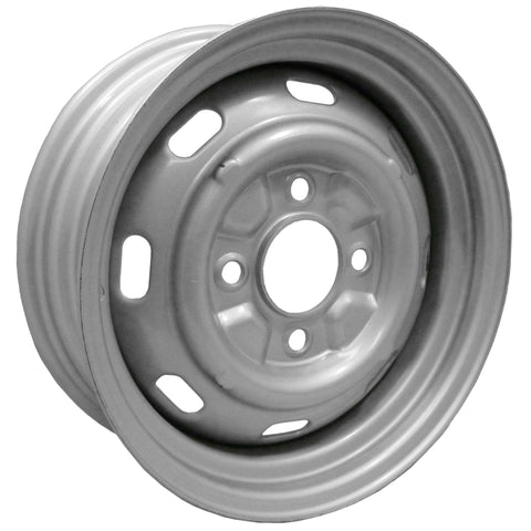 "4 Lug Rim Silver with Slots 4/130 4.5"" Wide - AA Performance Products"