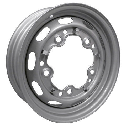 "5 Lug Rim Silver with Slots 5/205 5.5"" Wide - AA Performance Products"