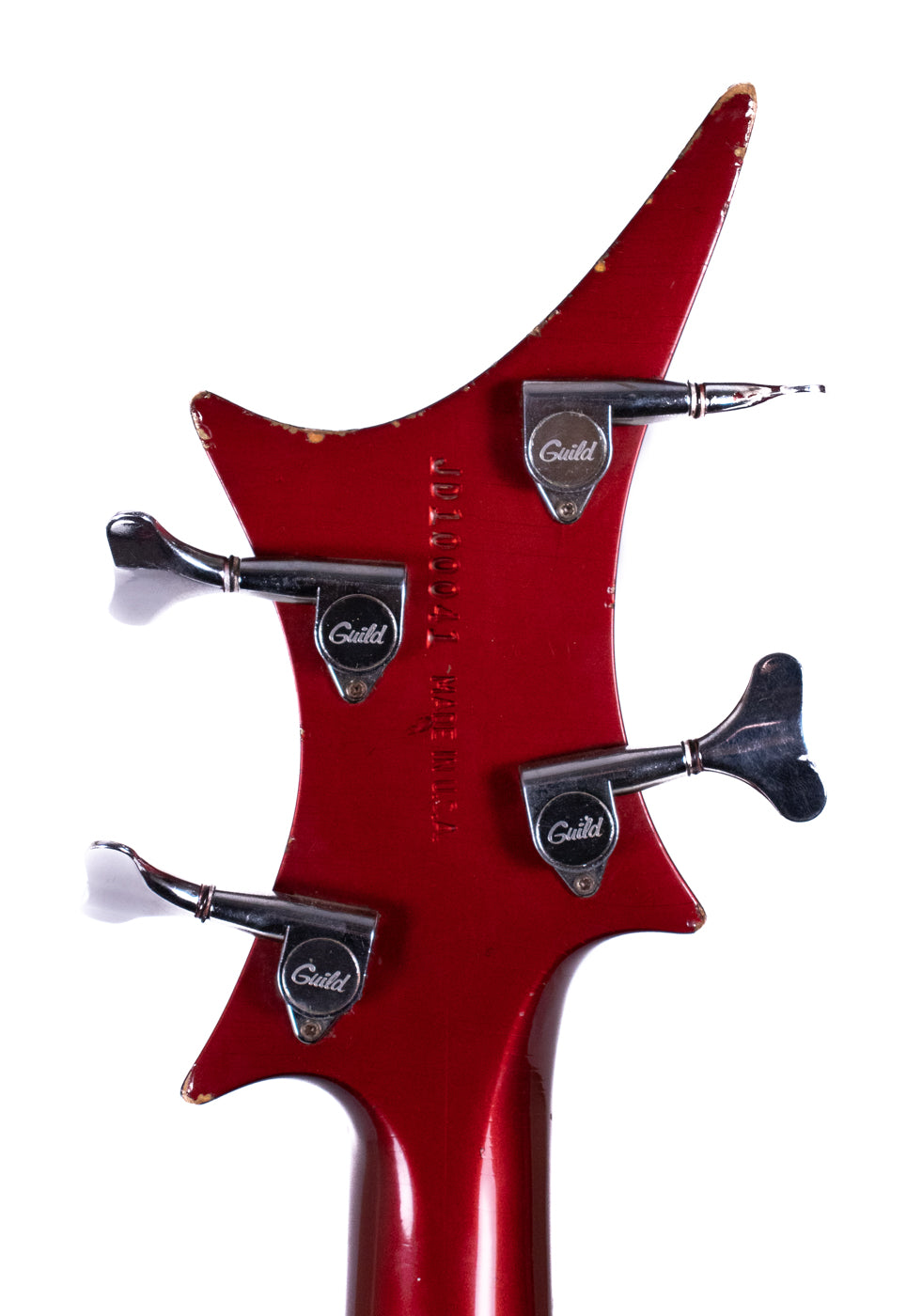 1982 Guild X-702 Bass Candy Apple Red image 4