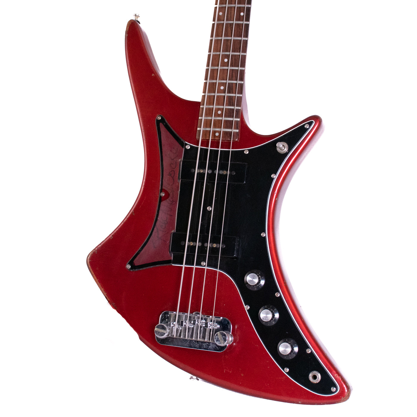 1982 Guild X-702 Bass Candy Apple Red image 2