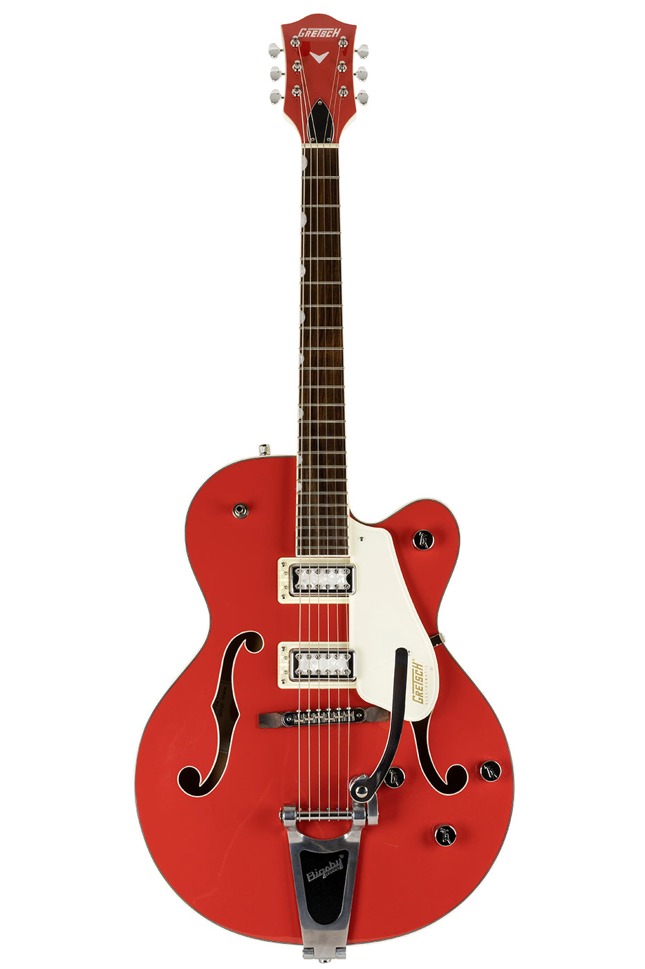 Used 2021 Gretsch G5410T Tri-Five Limited Two-Tone Fiesta Red & Vintage White image 7