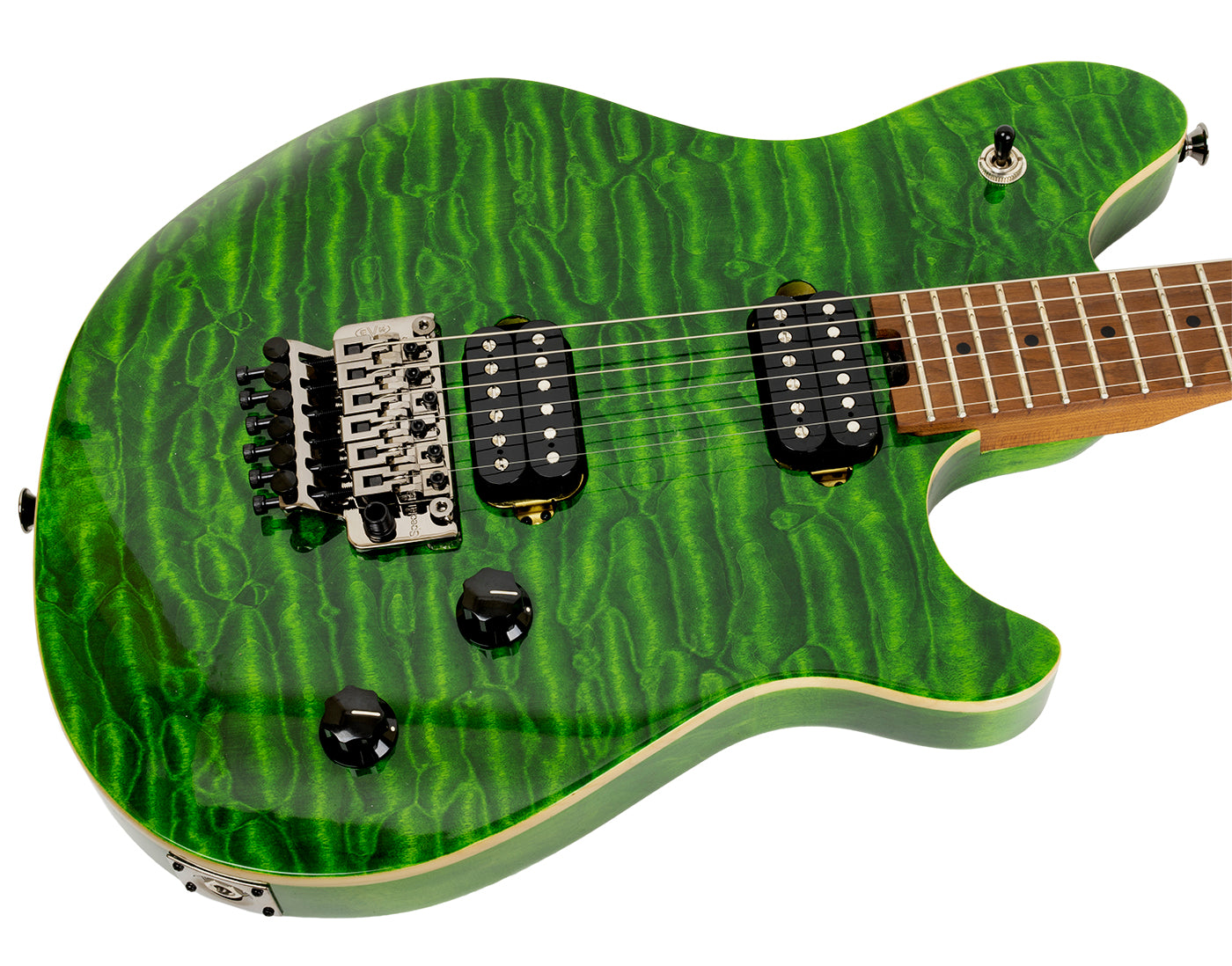 New EVH Wolfgang Standard Quilted Maple Transparent Green (PDX) image 3