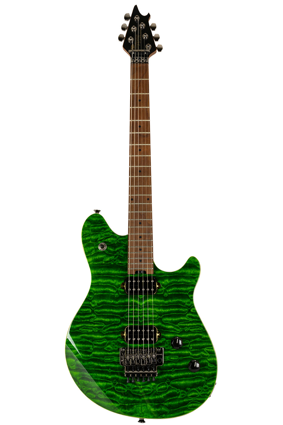 New EVH Wolfgang Standard Quilted Maple Transparent Green (PDX) image 7