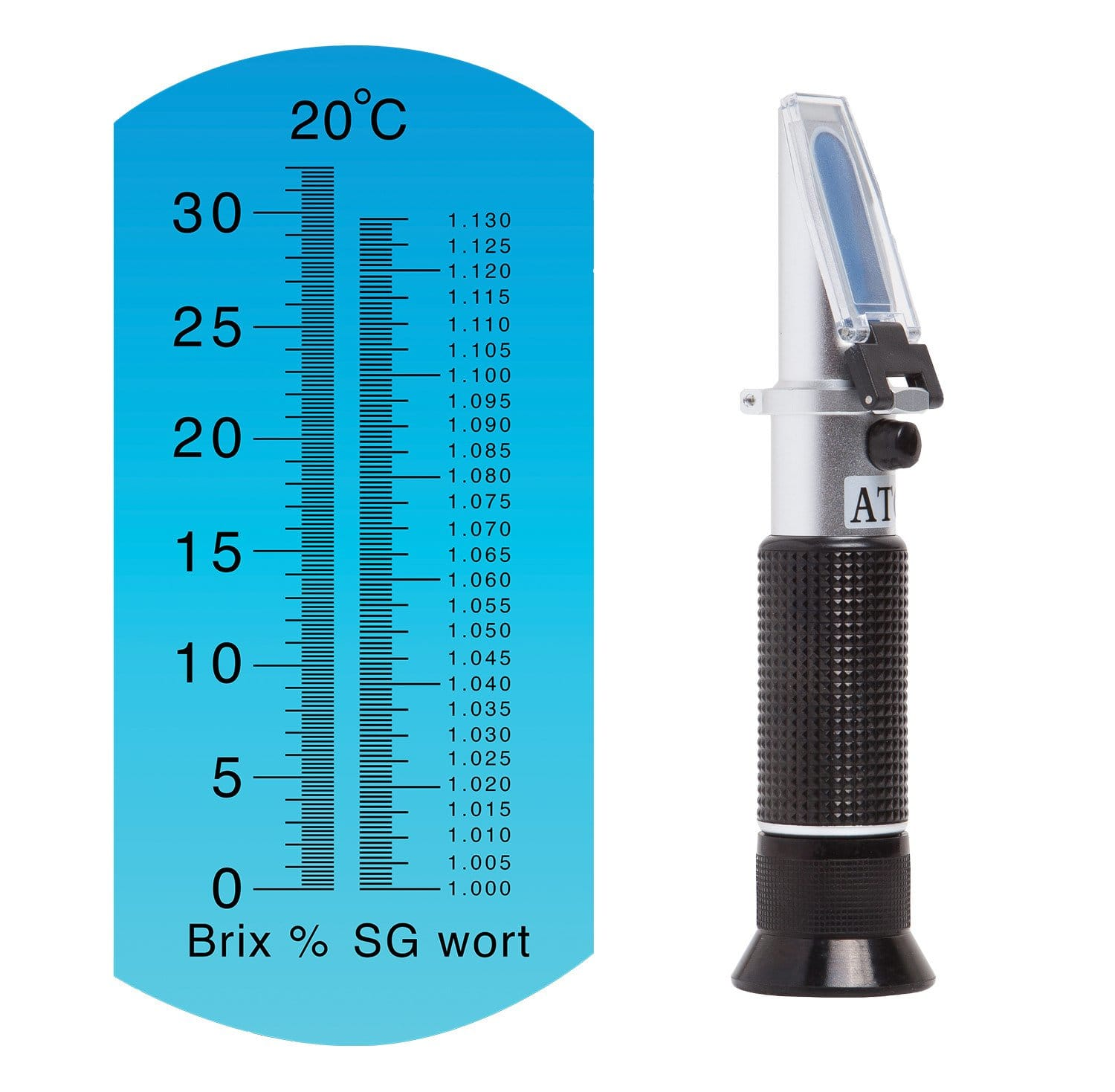 Brix SG Refractometer with Scale