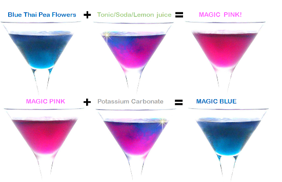Magic Blue and Pink Gin colours