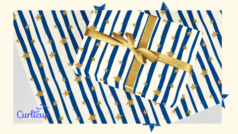 Stars at Dusk Eco Friendly Recyclable Wrapping Paper