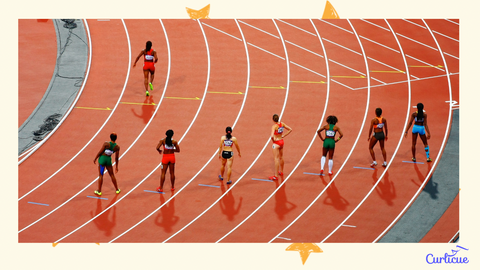 Runners Competing Athletes