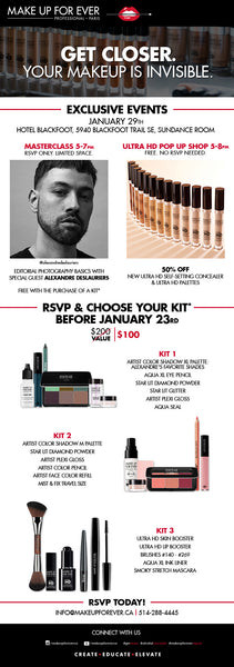 MAKE UP FOR EVER Exclusive Masterclass & Ultra HD Pop-up Shop