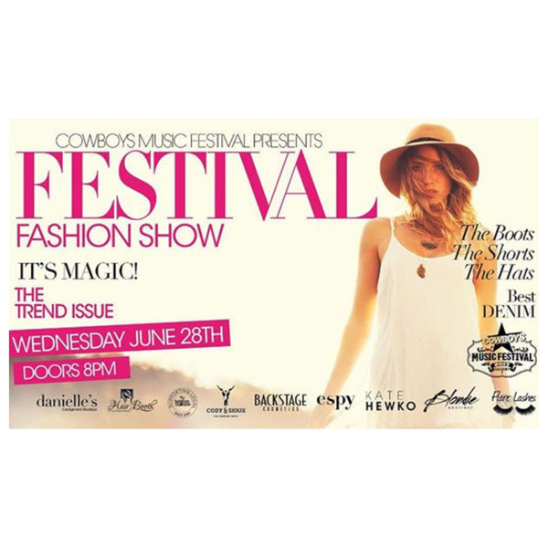 Visit us at Festival Fashion Show