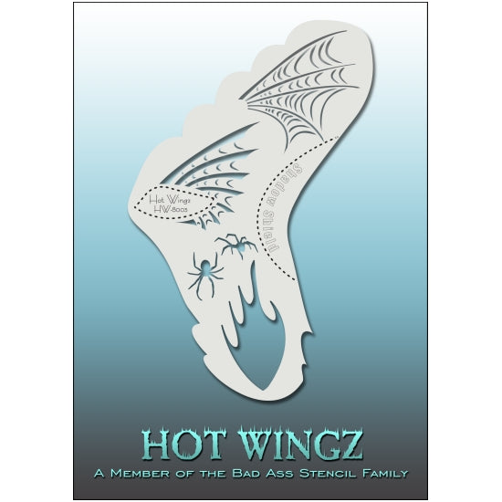 Hot Wingz - Wicked BadAss Stencils - Backstage Cosmetics Canada