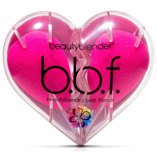 Double Blenders in Heart Shaped Canister- Pink Beautyblender - Backstage Cosmetics Canada
