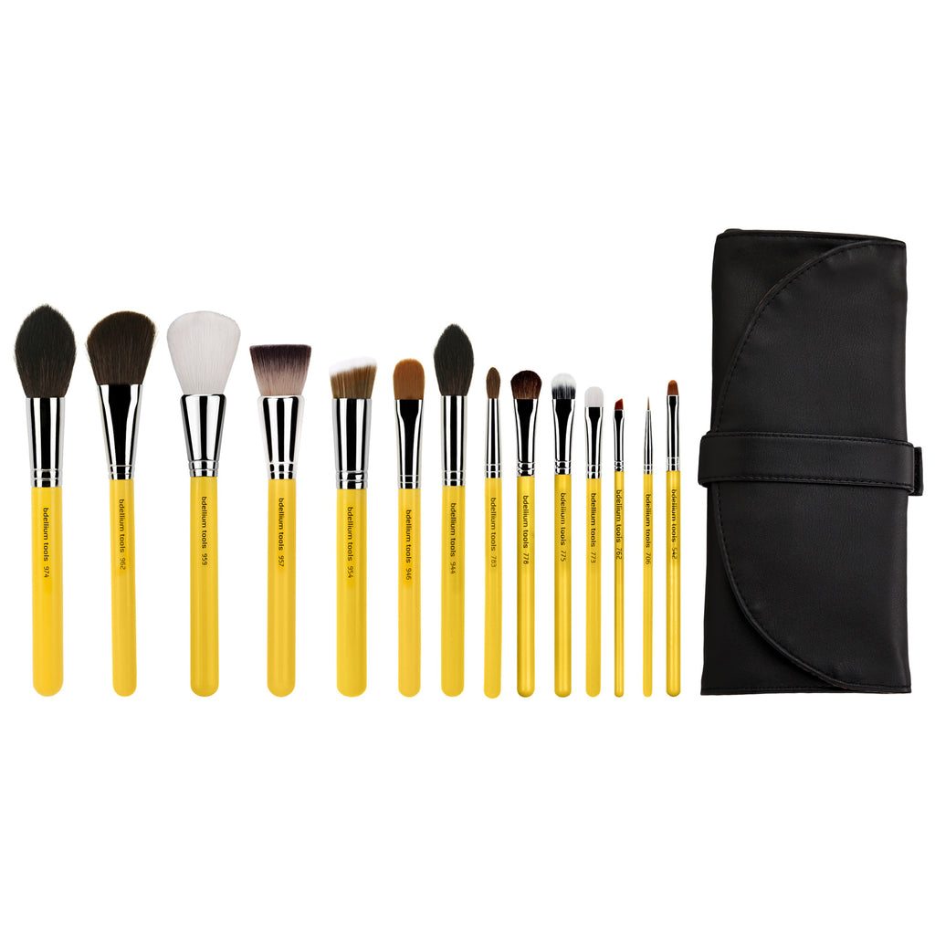 Studio The Collection 14pc. Brush Set with Roll-up Pouch Bdellium Tools - Backstage Cosmetics Canada