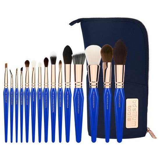 Golden Triangle PHASE II Complete 15pc. Brush Set with Pouch Bdellium Tools - Backstage Cosmetics Canada