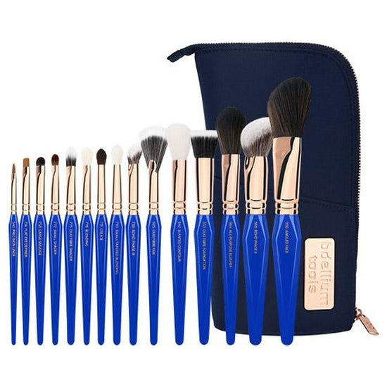 Golden Triangle Phase III Complete 15pc. Brush Set with Pouch Bdellium Tools - Backstage Cosmetics Canada
