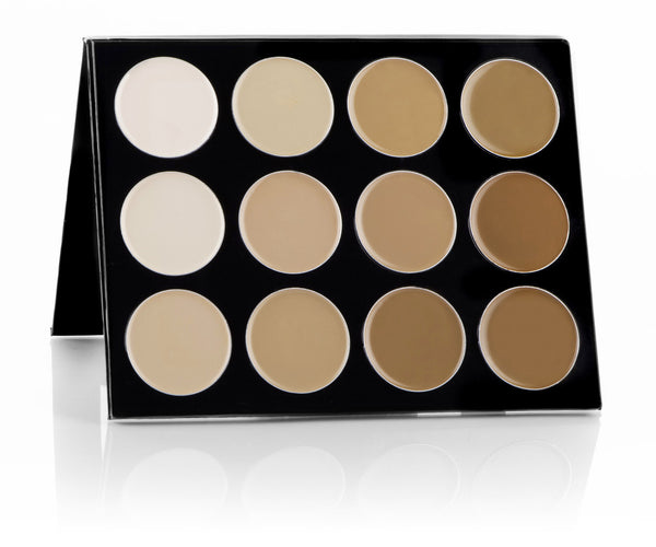 Celebré Pro-HD™ Cream Foundation 12 Color Contour/Highlight Palette Mehron - Backstage Cosmetics Canada