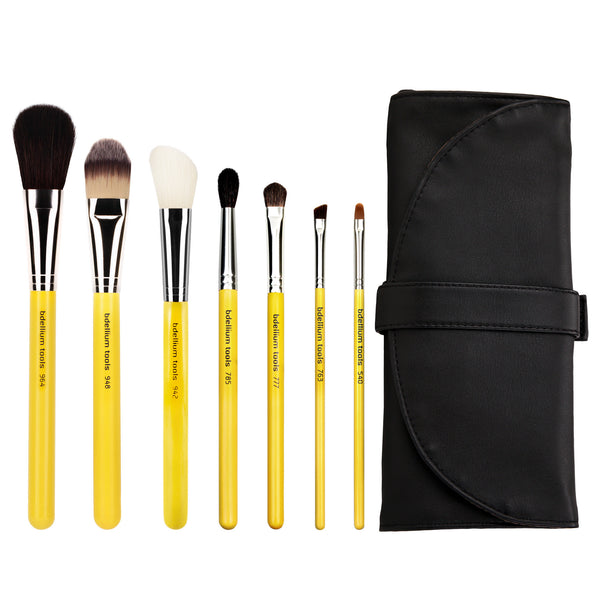Studio Basic 7pc. Brush Set with Roll-up Pouch Bdellium Tools - Backstage Cosmetics Canada