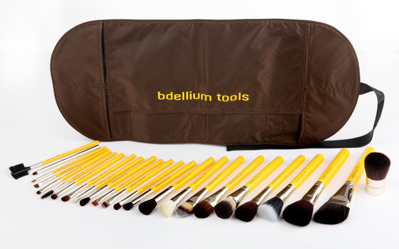 Studio Luxury 24pc. Brush Set with Roll-up Pouch Bdellium Tools - Backstage Cosmetics Canada