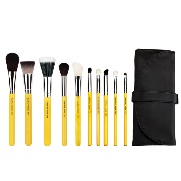 Studio Mineral 10pc. Brush Set with Roll-up Pouch Bdellium Tools - Backstage Cosmetics Canada