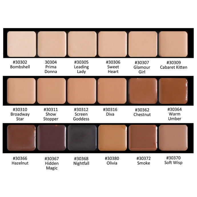 HD Glamour Creme Palette - Neutral Graftobian - Backstage Cosmetics Canada