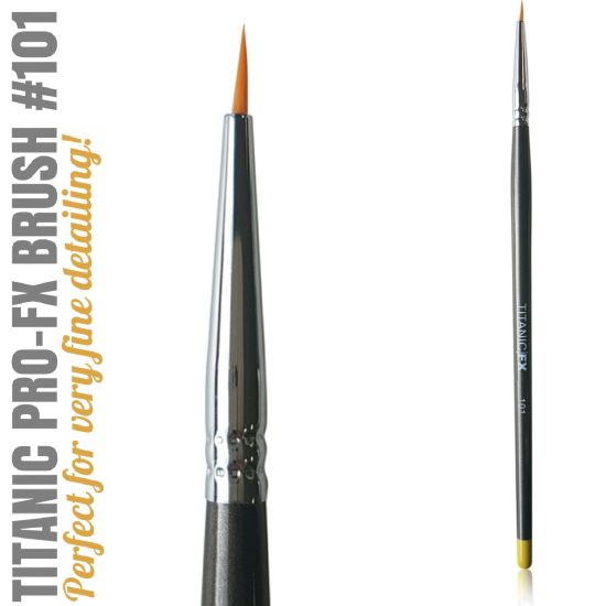 FX BRUSH 101 - SMALL LINER BRUSH Titanic FX - Backstage Cosmetics Canada