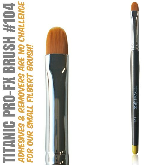 FX BRUSH 104 - SMALL FILBERT BRUSH Titanic FX - Backstage Cosmetics Canada
