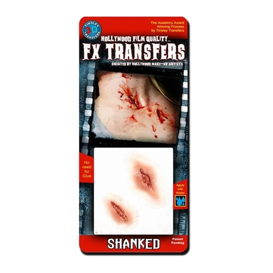 Shanked - 3D FX Transfer Tinsley Transfers - Backstage Cosmetics Canada