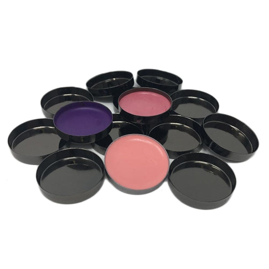 Empty Metal Pans - Round Glossy Black Zpalette - Backstage Cosmetics Canada