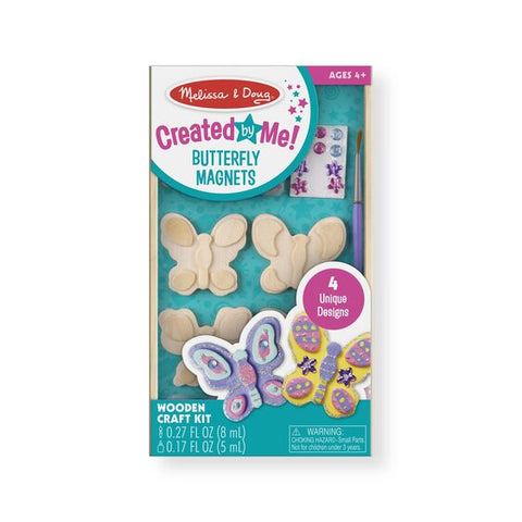 Melissa & Doug DIY Paint Your Own Butterfly Magnet Set