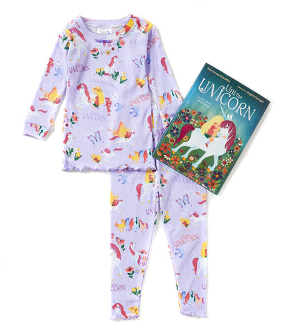Books to Bed Uni the Unicorn Pajamas & Hard Cover Book