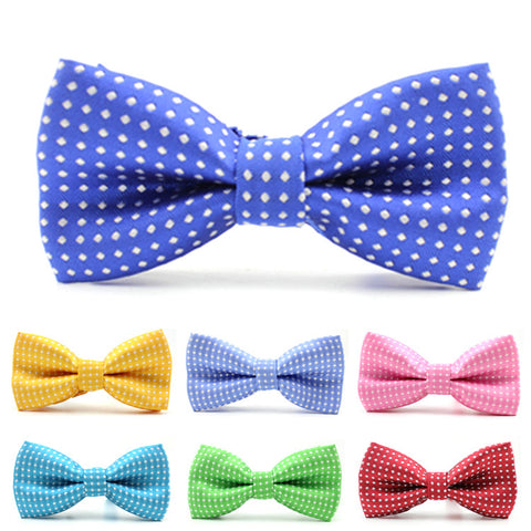 Bow Tie, Kids - Subtle Dot Print, Matte Satin <br> (CLICK FOR MORE OPTIONS)