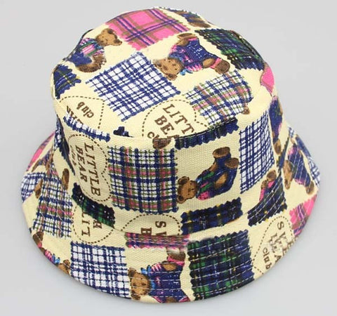 Sun Hat - Bucket, Crushable, Bear Quilt Pattern, 2-8yrs